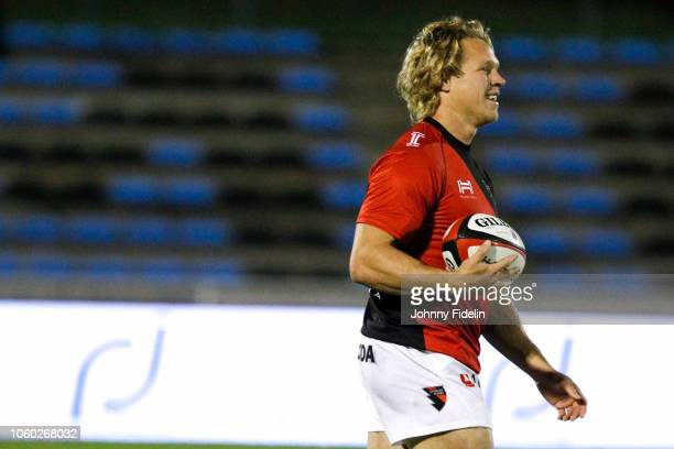 Matthew Hopper of Oyonnax before the Pro D2 match between Massy and Oyonnax on November 9 2018 in Massy France