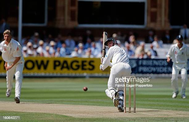 Matthew Horne plays Allan Mullally during his century 2nd Test England v New Zealand at Lord's 1999