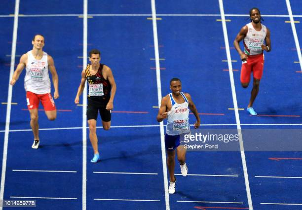Matthew Hudson-Smith of Great Britain leads the field as he competes in the Men's 400m Final during day four of the 24th European Athletics...