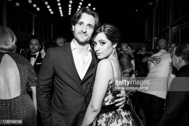 Matthew Hussey and Camila Cabello attend the 2019 Vanity Fair Oscar Party hosted by Radhika Jones at Wallis Annenberg Center for the Performing Arts...
