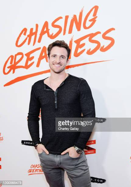 Matthew Hussey attends Lewis Howes Documentary Live Premiere Chasing Greatness at Pacific Theatres at The Grove on February 12 2020 in Los Angeles...
