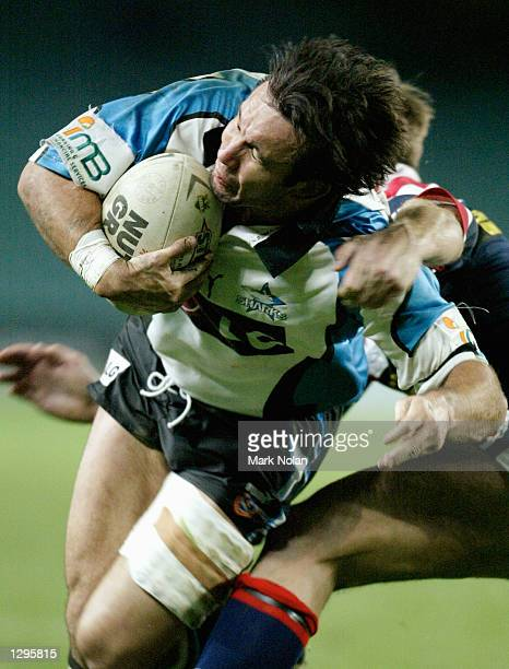 Matthew Johns of the Sharks in action during round 21 of the NRL between the Sydney Roosters and the Cronulla Sharks played at Aussie Stadium Sydeny...