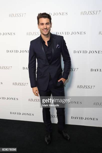 Matthew Johnson arrives ahead of the David Jones Spring Summer 2017 Collections Launch at David Jones Elizabeth Street Store on August 9 2017 in...