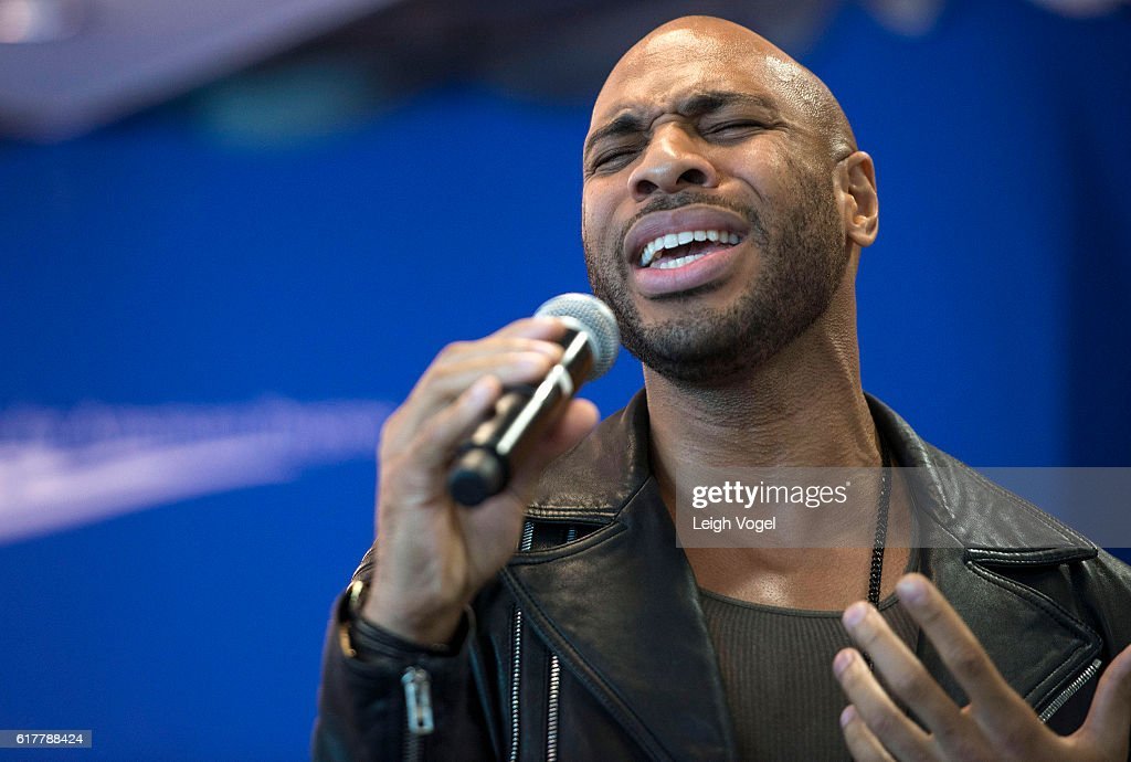 Matthew Johnson performs 'Stand in the Light' at the Center for American Progress event 'Debbie Allen On Arts and Lived Experience: Race, Violence, And Access To The American Dream' on October 24, 2016 in Washington, DC.