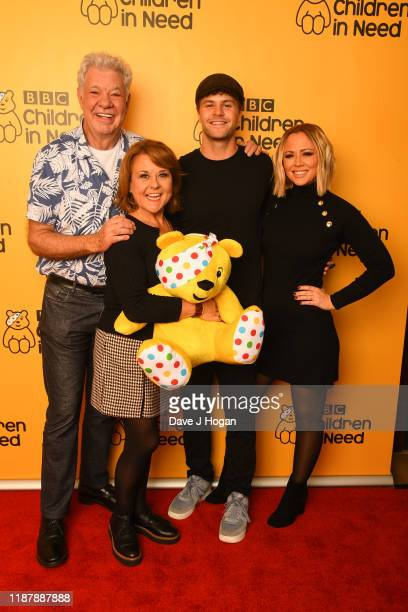 Matthew Kelly Wendi Peters Jay McGuinness and Kimberley Walsh backstage at BBC Children in Need's 2019 Appeal night at Elstree Studios on November 15...
