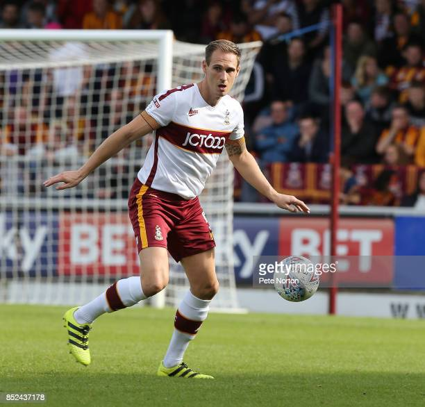 Matthew Kilgallon of Bradford City in action during the Sky Bet League One match between Northampton Town and Bradford City at Sixfields on September...