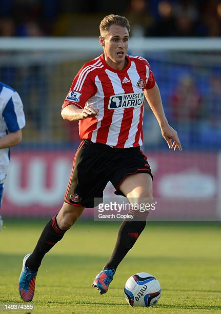 Matthew Kilgallon of Sunderland in action during the Pre Season Friendly match between Hartlepool and Sunderland at Victoria Park on July 27 2012 in...