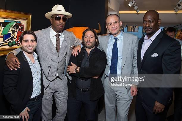 Matthew Kirschner, actor J. B. Smoove, Michael Heller, Ronn Torossian and Chris Jones attend the JetSmarter and Opera Gallery VIP party at Opera...