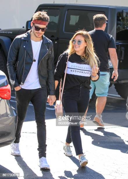 Matthew Koma and Hilary Duff are seen on October 15 2017 in Los Angeles California