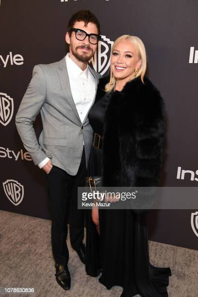 Matthew Koma and Hilary Duff attends the 2019 InStyle and Warner Bros 76th Annual Golden Globe Awards PostParty at The Beverly Hilton Hotel on...
