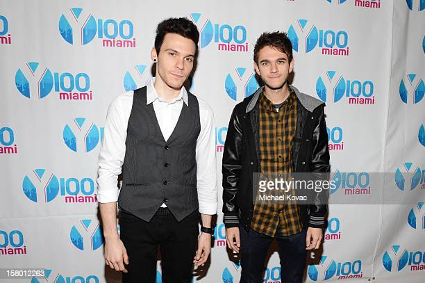 Matthew Koma and Zedd attend the Y100's Jingle Ball 2012 at the BBT Center on December 8 2012 in Miami
