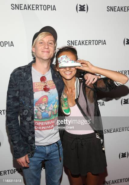 Matthew Laurence Knott and Smoluk attend the Sneakertopia Los Angeles VIP Preview at HHLA on October 24 2019 in Los Angeles California