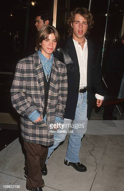 Matthew Lawrence and Joey Lawrence during 'Mrs Doubtfire' Los Angeles Premiere at Academy Theater in Beverly Hills California United States