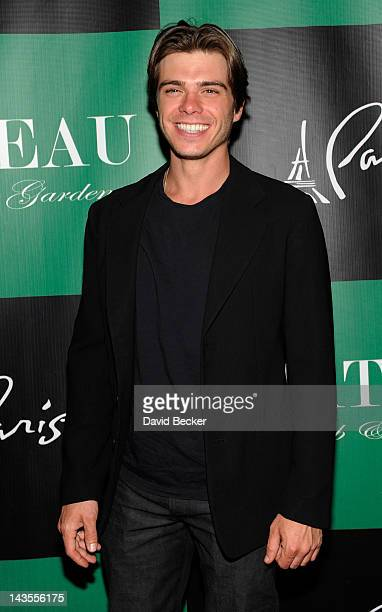 Matthew Lawrrence arrives at the Chateau Nightclub Gardens at the Paris Las Vegas on April 28 2012 in Las Vegas Nevada