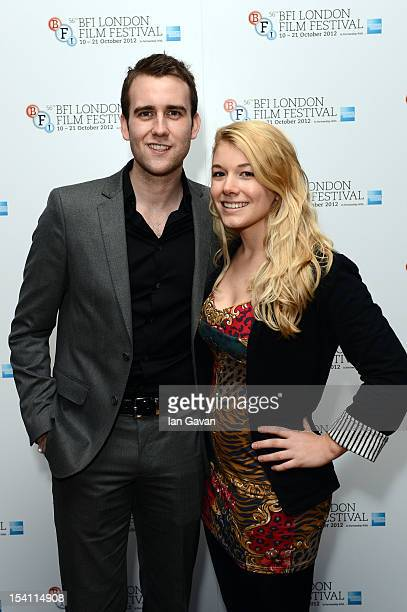 Matthew Lewis and Alison Wynd attend the premiere of 'Wasteland' during the 56th BFI London Film Festival at Odeon West End on October 14 2012 in...
