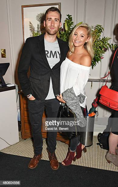 Matthew Lewis and Lauren Hickford attends an after party following the press night performance of 'The Mentalists' at Kettner's on July 13 2015 in...