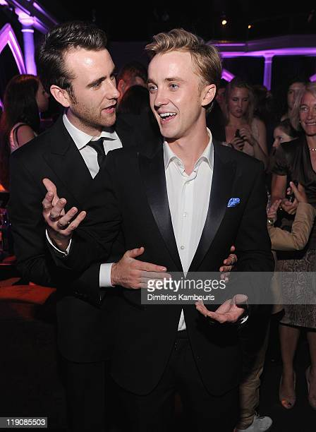 Matthew Lewis and Tom Felton attend the after party for the premiere of 'Harry Potter and the Deathly Hallows Part 2' at American Museum of Natural...