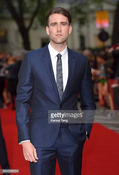 Matthew Lewis attends the European film premiere 'Me Before You' at The Curzon Mayfair on May 25 2016 in London England