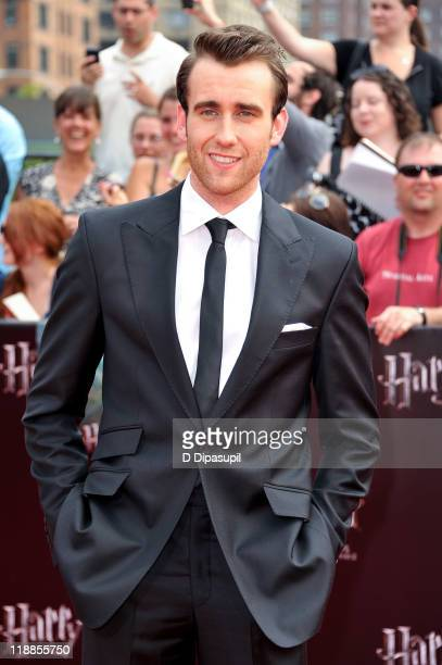 Matthew Lewis attends the premiere of 'Harry Potter and the Deathly Hallows Part 2' at Avery Fisher Hall Lincoln Center on July 11 2011 in New York...