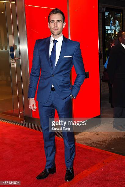 Matthew Lewis attends the VIP night for the Northern Ballets rendition of 'The Great Gatsby' at Sadlers Wells Theatre on March 24 2015 in London...