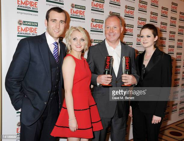 Matthew Lewis Evanna Lynch David Yates and Bonnie Wright accespt for Best Film winner Harry Potter And The Deatlhly Hallows Part 2 in the press room...