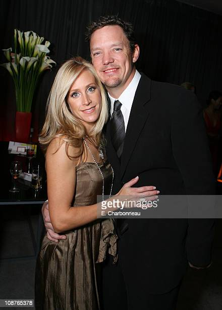 Matthew Lillard and Heather Helm during Focus Features Golden Globes After Party at Beverly Hilton in Los Angeles, California, United States.