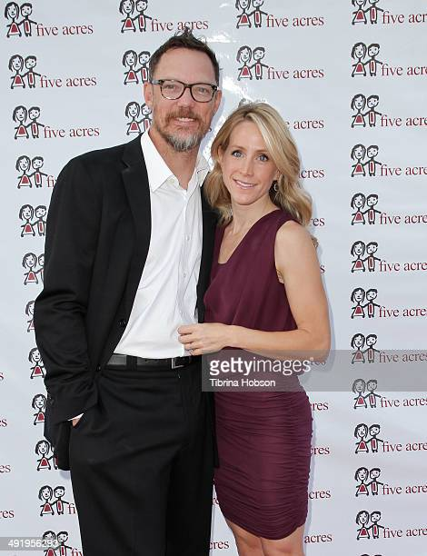 Matthew Lillard and wife, Heather Helm Lillard attend the Voices for Five Acres 'Swingin' On A Star' gala on May 17, 2014 in Pasadena, California.
