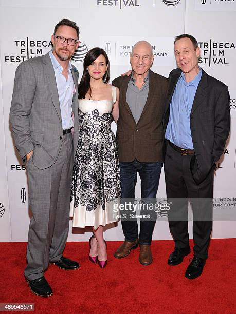 Matthew Lillard Carla Gugino Patrick Stewart and Stephen Belber attend the Match Premiere during the 2014 Tribeca Film Festival at BMCC Tribeca PAC...