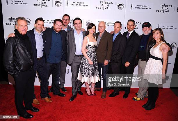 Matthew Lillard Carla Gugino Patrick Stewart and Stephen Belber with the cast and crew attend the Match Premiere during the 2014 Tribeca Film...