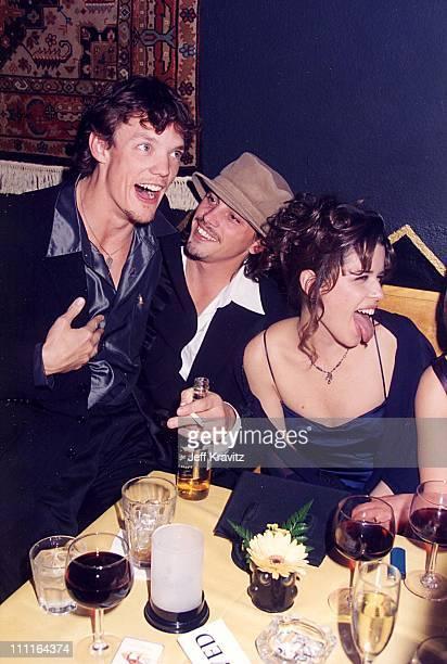 "Matthew Lillard, Skeet Ulrich & Neve Campbell during ""Scream"" Premiere in Los Angeles, California, United States."