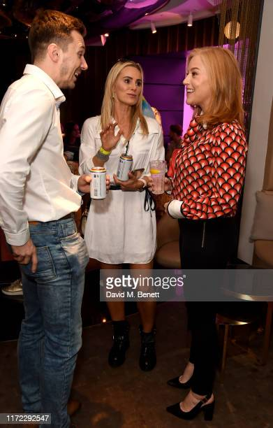 Matthew Lindsay, Sarah Lindsay and Sarah-Jane Mee attend Australia's Gayle Lager and Cider launch at The W Hotel, supporting the LGBTQ+ community, on...