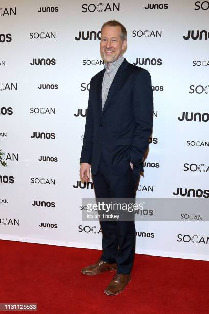 Matthew Loden arrives on the red carpet for the 2019 Juno Gala Dinner and Awards at the London Convention Centre on March 16, 2019 in London, Canada.