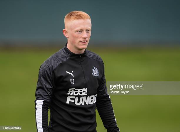Matthew Longstaff during the Newcastle United Training Session at the Newcastle United Training Centre on October 31, 2019 in Newcastle upon Tyne,...