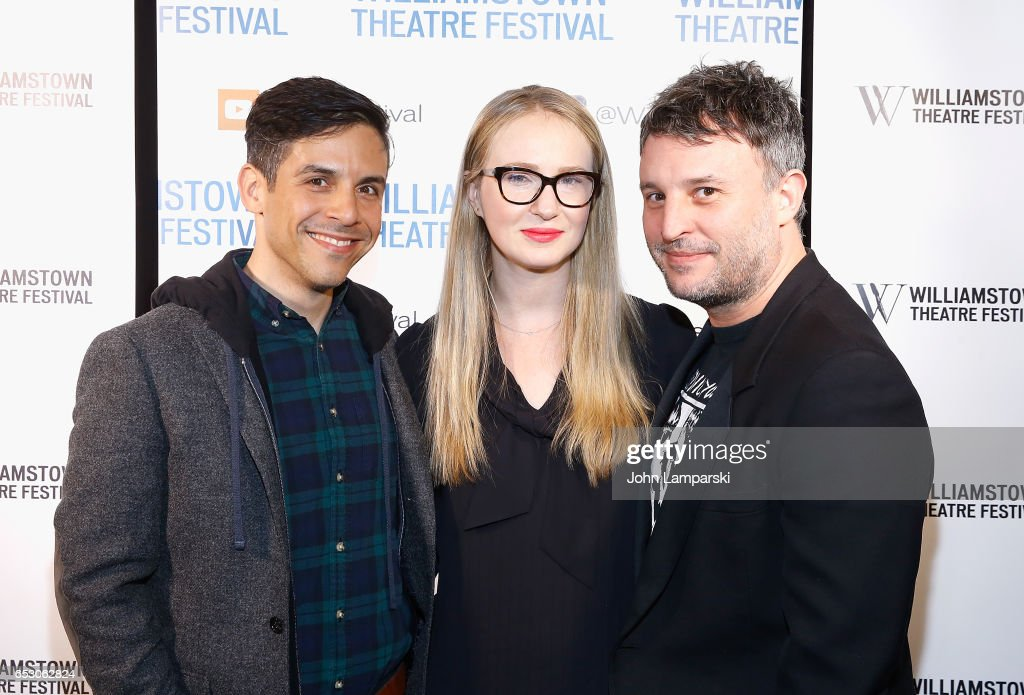 Matthew Lopez, Halley Feiffer and Trip Cullman attend 2017 Williamstown Theatre Festival Gala at TAO Downtown on March 13, 2017 in New York City.