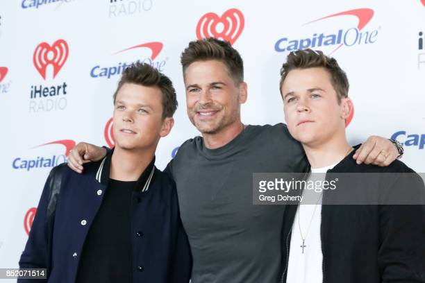 Matthew Lowe Rob Lowe and John Lowe arrive at the 2017 iHeartRadio Music Festival at TMobile Arena on September 22 2017 in Las Vegas Nevada