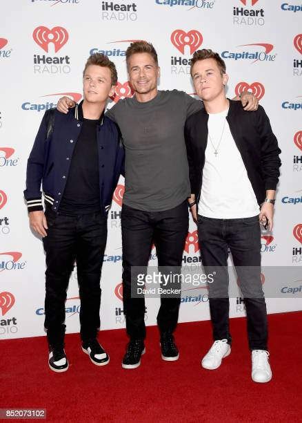 Matthew Lowe Rob Lowe and John Lowe attend the 2017 iHeartRadio Music Festival at TMobile Arena on September 22 2017 in Las Vegas Nevada