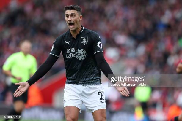 Matthew Lowton of Burnley during the Premier League match between Southampton FC and Burnley FC at St Mary's Stadium on August 12 2018 in Southampton...