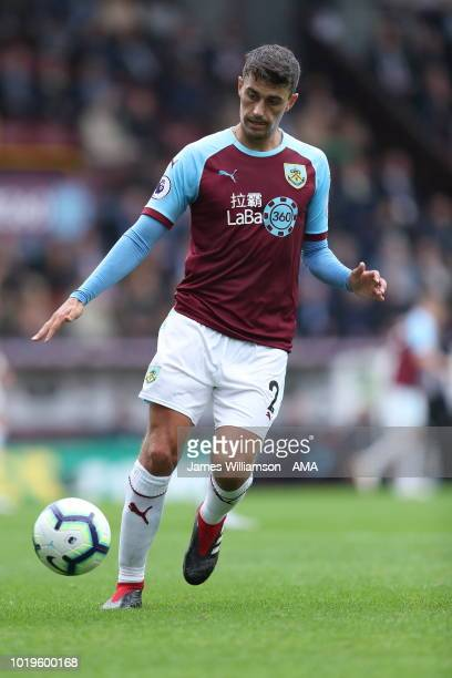 Matthew Lowton of Burnley during the Premier League match between Burnley FC and Watford FC at Turf Moor on August 19 2018 in Burnley United Kingdom