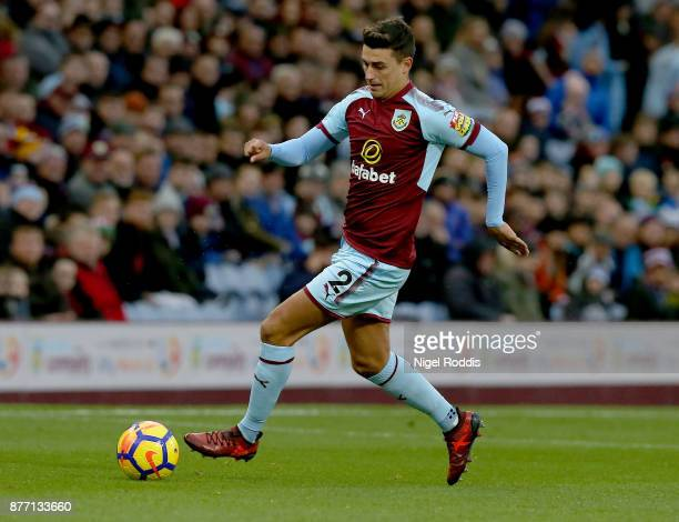 Matthew Lowton of Burnley during the Premier League match between Burnley and Swansea City at Turf Moor on November 18 2017 in Burnley England