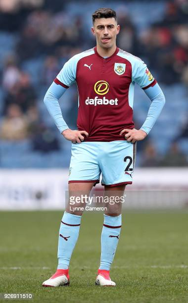 Matthew Lowton of Burnley during the Premier League match between Burnley and Everton at Turf Moor on March 3 2018 in Burnley England