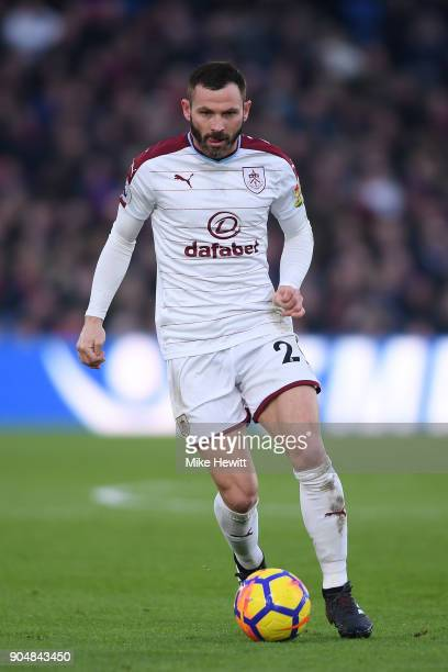 Matthew Lowton of Burnley in action during the Premier League match between Crystal Palace and Burnley at Selhurst Park on January 13 2018 in London...