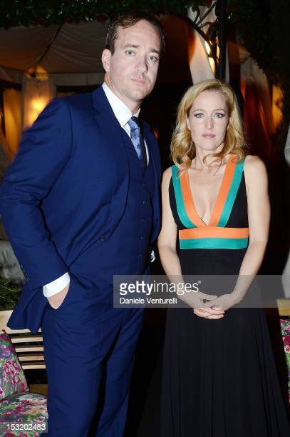 Matthew Macfadyen and Gillian Anderson attend the Tiziana Rocca Comunicazione and Residenza di Ripetta Glamour Event on October 1 2012 in Rome Italy
