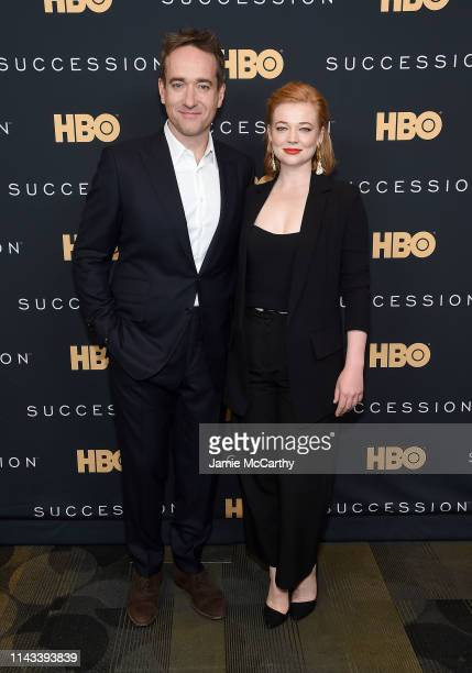 Matthew Macfadyen and Sarah Snook attend the Succession FYC Event at Time Warner Center on April 17 2019 in New York City