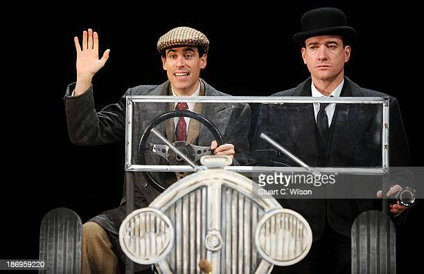 Matthew Macfadyen and Stephen Mangan attend a photocall as Jeeves and Wooster in 'Perfect Nonsense' at the Duke Of York's Theatre on November 05 2013...