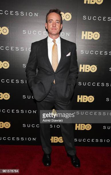 Matthew Macfadyen attends Succession New York premiere at Time Warner Center on May 22 2018 in New York City