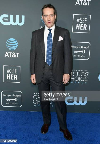 Matthew Macfadyen attends the 24th annual Critics' Choice Awards at Barker Hangar on January 13 2019 in Santa Monica California