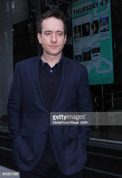 Matthew Macfadyen is seen on April 05 2018 in New York City
