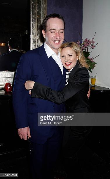 Matthew Macfadyen Kim Cattrall and other celebrities attend the Private Lives press night after party at Jewell bar London on March 03 2010