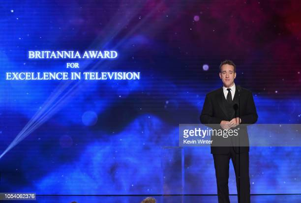 Matthew Macfadyen presents the Britannia Award for Excellence in Television onstage at the 2018 British Academy Britannia Awards presented by Jaguar...