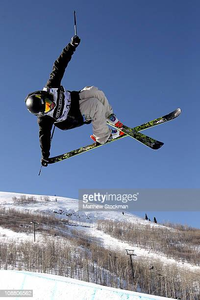 Matthew Margetts of Canada during practice for the Ski Half Pipe competition at the FIS Freestyle World Championships at Park City Mountain Resort on...